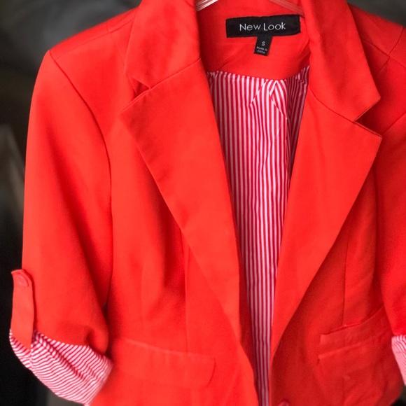 New Look Jackets & Blazers - New Look Coral Blazer